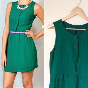 J. Crew | Emerald Green Half Placket Dress